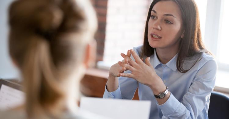 professional woman speaking